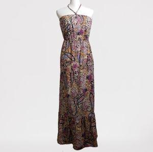 Kirra - PacSun halter floral paisley maxi dress XS
